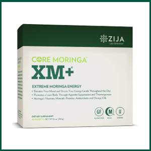 zija core moringa xm+ extreme moringa energy contains moringa oleifera and other natural herbs to elevate your mood and boost your energy levels throughout the day, promotes a lean body through appetite suppression and thermogenesis, and contains moringa vitamins, minerals, proteins, antioxidants and omega oils