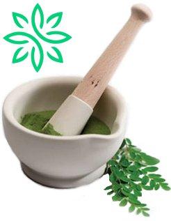 mortar and pestle zija moringa leaf powder
